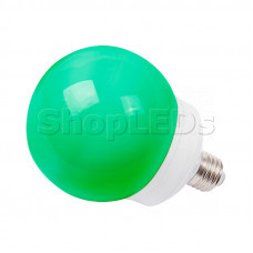 Лампа шар e27 12 LED ∅100мм зеленая